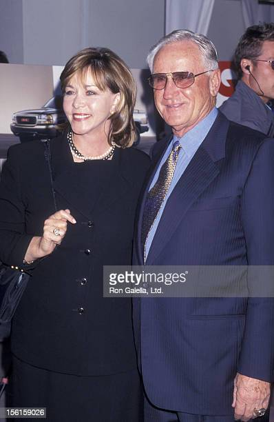 Actor Don Shula and wife Mary Anne Stephens attend Men For The Cure Benefit Gala on September 9 1999 at Eurochow Restaurant in Westwood California