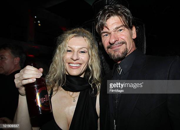 Actor Don Swayze and guest arrive at HBO's True Blood Season 3 premiere after party held at Boulevard3 on June 8 2010 in Hollywood California