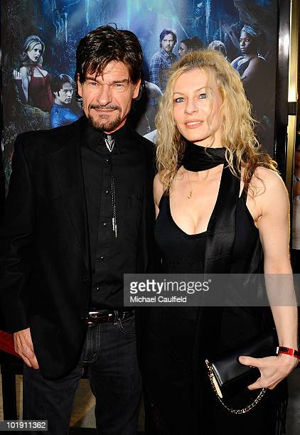 Actor Don Swayze and guest arrive at HBO's True Blood Season 3 premiere held at the ArcLight Cinemas Cinerama Dome on June 8 2010 in Hollywood...