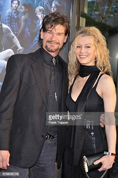 Actor Don Swayze and guest arrive at the premiere of HBO's True Blood Season 3 at The Cinerama Dome in Hollywood