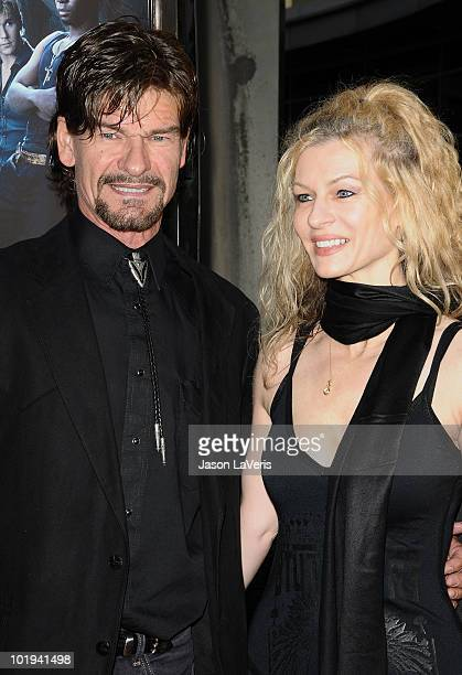Actor Don Swayze and guest attends the third season premiere of HBO's True Blood at ArcLight Cinemas Cinerama Dome on June 8 2010 in Hollywood...