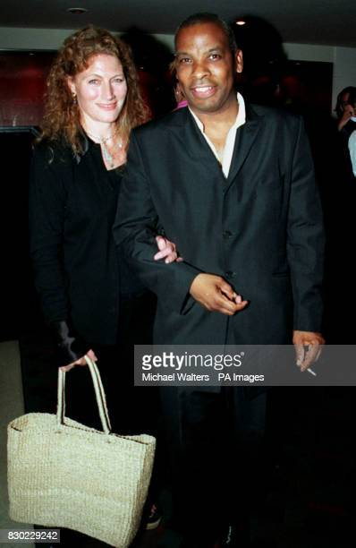 Actor Don Warrington with actress Geraldine James as they leave the Queens Theatre Shaftesbury Avenue after Eddie Izzard returned to the West End for...