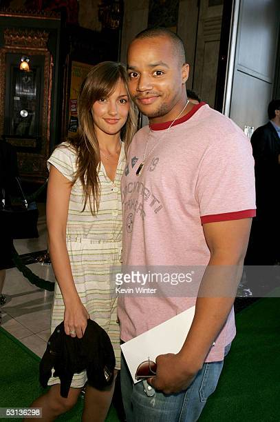 Actor Donald Faison and actress Minka Kelly arrive at the Los Angeles Premiere of the Broadway musical Wicked at the Pantages Theatre on June 22 2005...