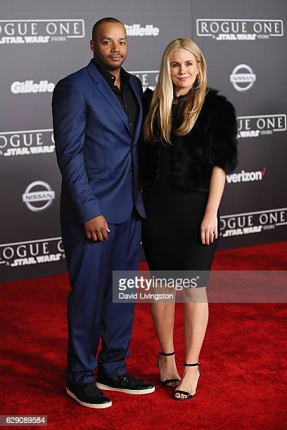 Actor Donald Faison and CaCee Cobb arrive at the premiere of Walt Disney Pictures and Lucasfilm's Rogue One A Star Wars Story at the Pantages Theatre...