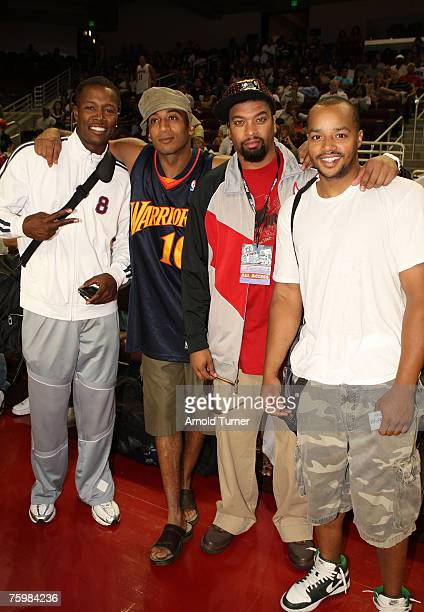 Actor Donald Faison and guests during the LA stars celebrity all star charity weekend celebrity and NBA all star game at USC Galen Center on August...