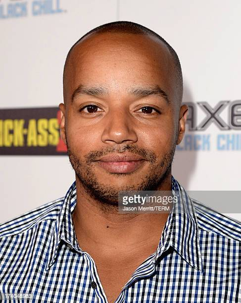Actor Donald Faison arrives at the Playboy and Universal Pictures' 'KickAss 2' event at ComicCon sponsored by AXE Black Chill on July 19 2013 in San...
