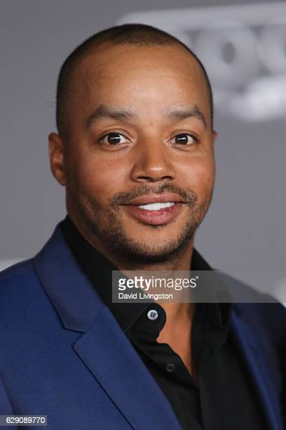 Actor Donald Faison arrives at the premiere of Walt Disney Pictures and Lucasfilm's Rogue One A Star Wars Story at the Pantages Theatre on December...