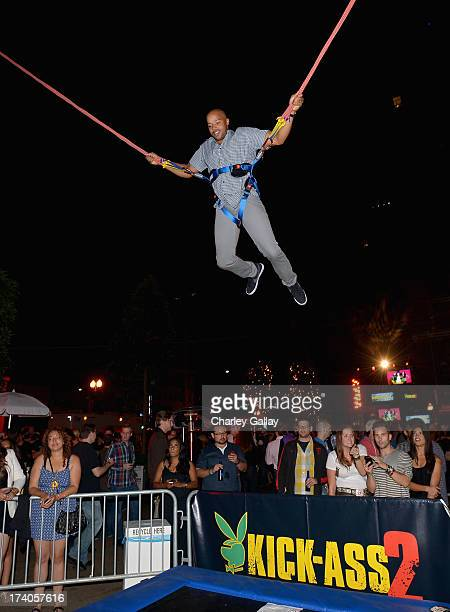 Actor Donald Faison attends the Playboy and Universal Pictures' 'KickAss 2' event at ComicCon sponsored by AXE Black Chill on July 19 2013 in San...