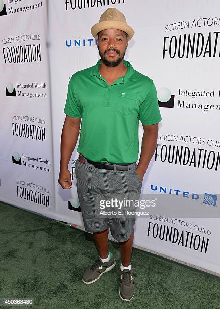 Actor Donald Faison attends the Screen Actor's Guild Foundation's 5th Annual Actors Fore Actors Los Angeles Golf Classic at Lakeside Golf Club on...