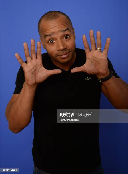 Actor Donald Faison poses for a portrait during the 2014 Sundance Film Festival at the Getty Images Portrait Studio at the Village At The Lift...