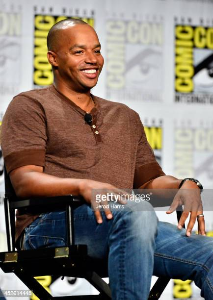 Actor Donald Faison speaks onstage at TV Land's Legends Of TV Land Panel during the 2014 Comic Con International Convention at Hilton Bayfront on...