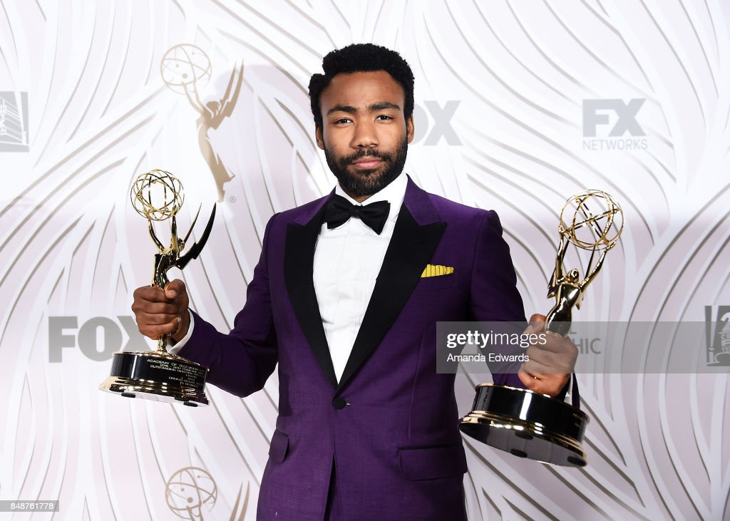 Actor Donald Glover arrives at the FOX Broadcasting Company, Twentieth Century Fox Television, FX and National Geographic 69th Primetime Emmy Awards After Party at Vibiana on September 17, 2017 in Los Angeles, California.