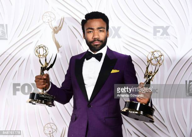 Actor Donald Glover arrives at the FOX Broadcasting Company Twentieth Century Fox Television FX and National Geographic 69th Primetime Emmy Awards...
