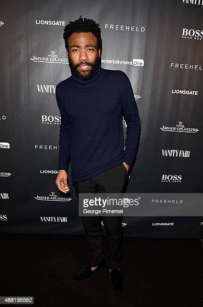 Actor Donald Glover at the Vanity Fair toast of 'Freeheld' at TIFF 2015 presented by Hugo Boss and supported by JaegerLeCoultre at Montecito...