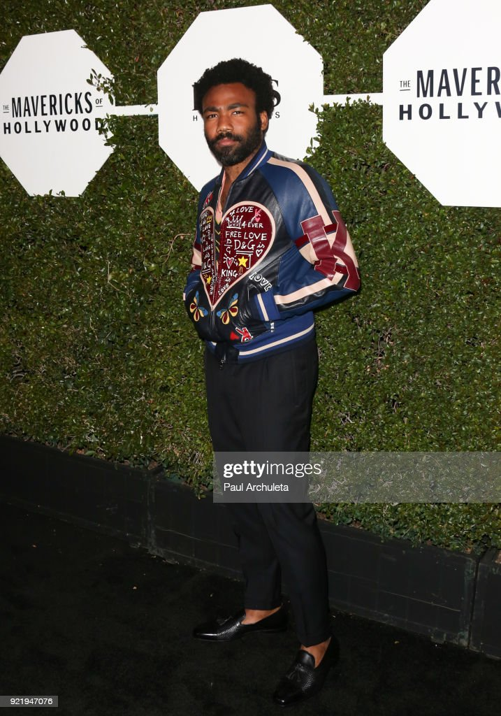 Actor Donald Glover attends Esquire's annual 'Maverick's Of Hollywood' event at Sunset Tower on February 20, 2018 in Los Angeles, California.