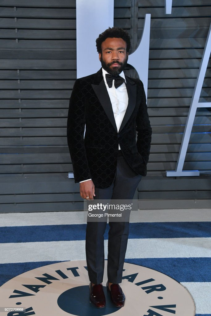 Actor Donald Glover attends the 2018 Vanity Fair Oscar Party hosted by Radhika Jones at Wallis Annenberg Center for the Performing Arts on March 4, 2018 in Beverly Hills, California.