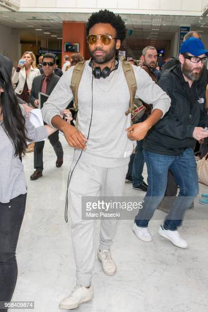 Actor Donald Glover is seen during the 71st annual Cannes Film Festival at Nice Airport on May 14 2018 in Nice France