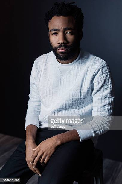 Actor Donald Glover of 'The Martian' poses for a portrait at the 2015 Toronto Film Festival at the TIFF Bell Lightbox on September 11 2015 in Toronto...
