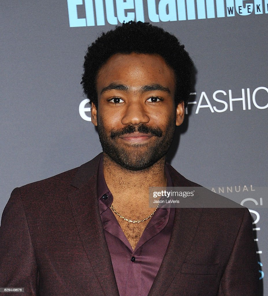 Actor Donald Glover poses in the press room at the 22nd annual Critics' Choice Awards at Barker Hangar on December 11, 2016 in Santa Monica, California.