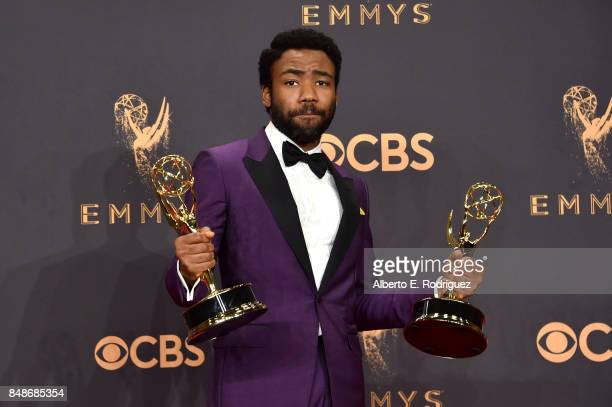 Actor Donald Glover winner of the award for Outstanding Lead Actor in a Comedy Series for 'Atlanta' poses in the press room during the 69th Annual...