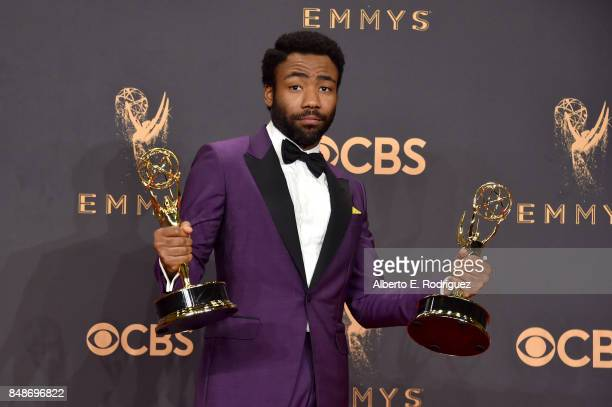Actor Donald Glover, winner of the award for Outstanding Lead Actor in a Comedy Series for 'Atlanta,' poses in the press room during the 69th Annual...