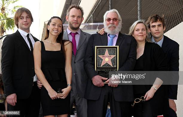 Actor Donald Sutherland and family members attend the ceremony honoring Donald Sutherland with a Star on The Hollywood Walk of Fame on January 26...