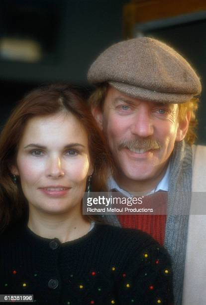 Actor Donald Sutherland and his wife actress Francine Racette attend the 1982 Avoriaz Fantastic Film Festival