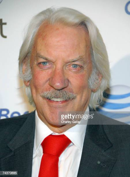 Actor Donald Sutherland arrives at the launch party for the new BlackBerry Curve at The Regent Beverly Wilshire Hotel on May 31 2007 in Los Angeles...