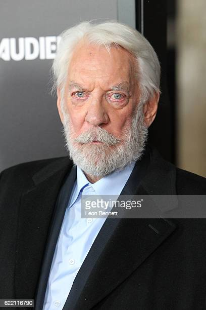 Actor Donald Sutherland arrives at the Premiere Of Audience Network's 'Ice' Arrivals at ArcLight Cinemas on November 9 2016 in Hollywood California