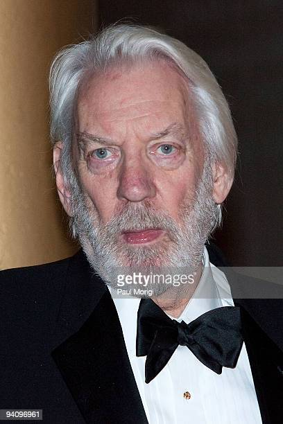 Actor Donald Sutherland arrives to the 32nd Kennedy Center Honors at Kennedy Center Hall of States on December 6 2009 in Washington DC
