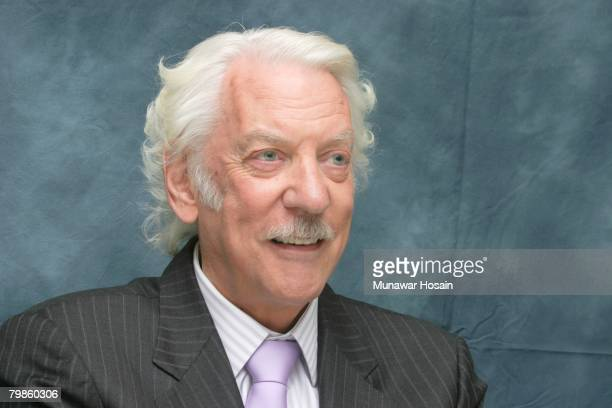 Actor Donald Sutherland at the Four Seasons Hotel in Beverly Hills California on October 16th 2007 Reproduction by American tabloids is absolutely...