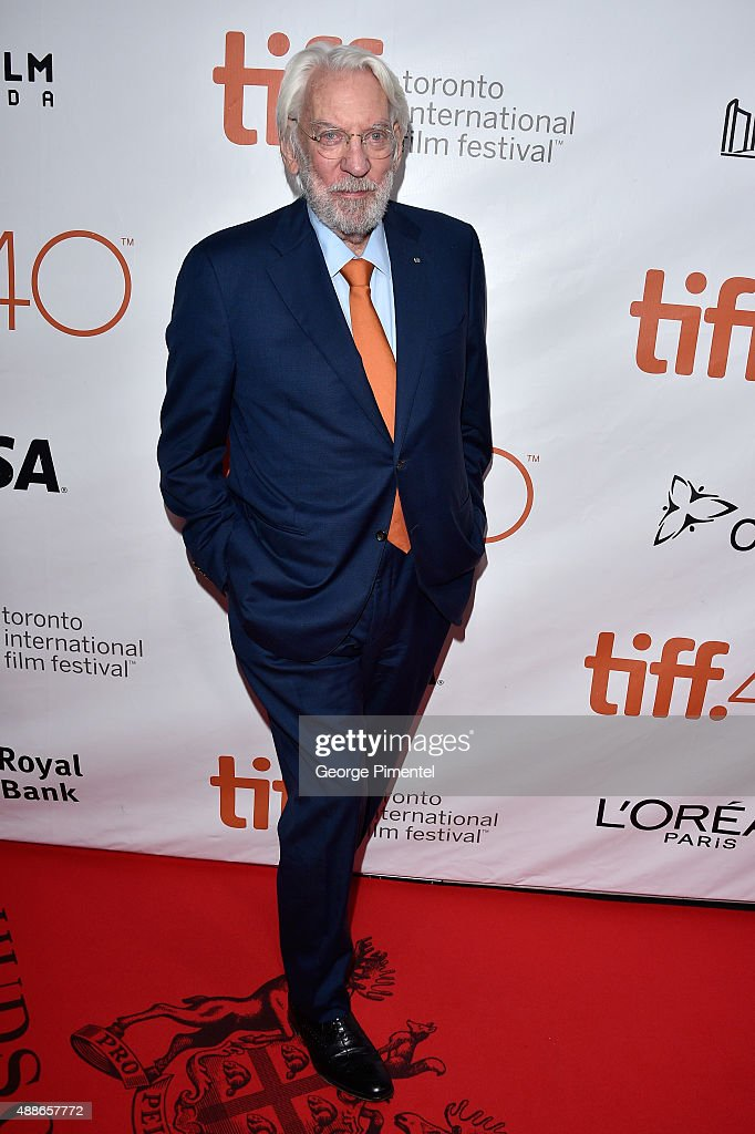 Actor Donald Sutherland attends the 'Forsaken' premiere during the 2015 Toronto International Film Festival at Roy Thomson Hall on September 16, 2015 in Toronto, Canada.