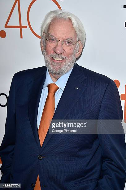 Actor Donald Sutherland attends the 'Forsaken' premiere during the 2015 Toronto International Film Festival at Roy Thomson Hall on September 16 2015...