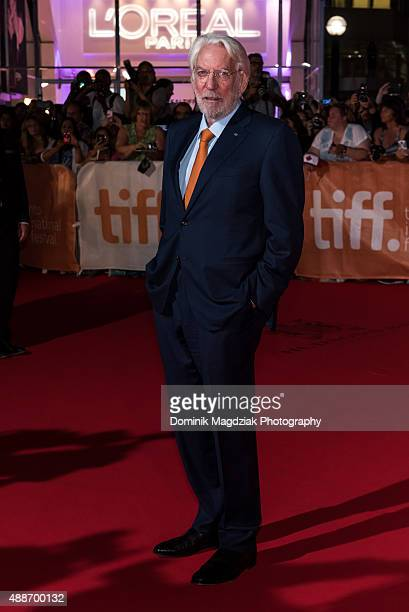 Actor Donald Sutherland attends the 'Forsaken' premiere during the 2015 Toronto International Film Festival at Roy Thomson Hall on September 16 2015...