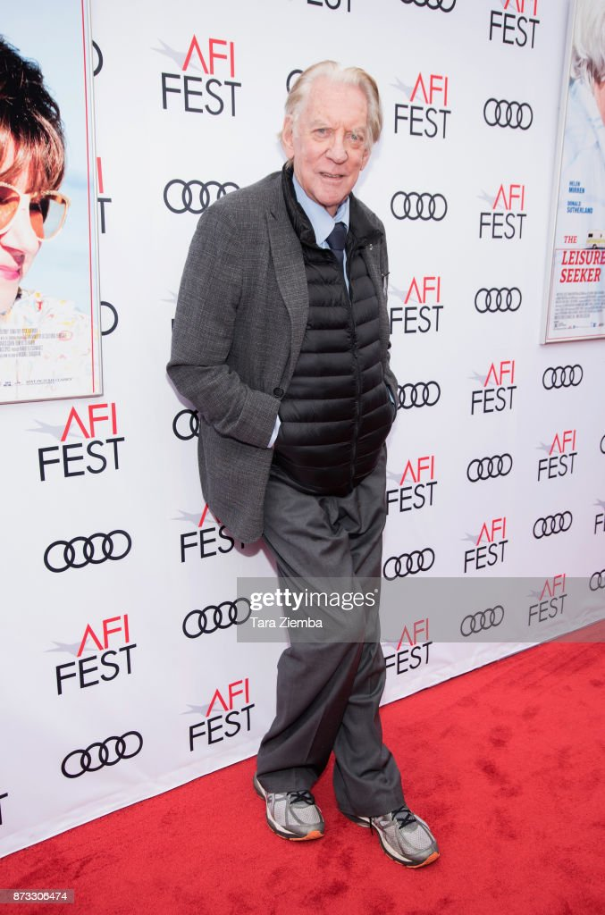 Actor Donald Sutherland attends the screening of 'The Leisure Seeker' at AFI FEST 2017 Presented By Audi at the Egyptian Theatre on November 12, 2017 in Hollywood, California.
