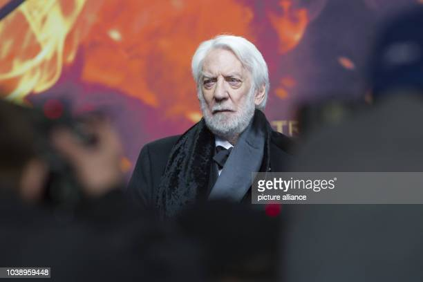 Actor Donald Sutherland attends the world premiere of the film 'The Hunger Games Mockingjay Part 2' in Berlin Germany 4 November 2015 Photo Paul...