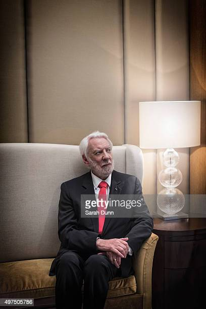 Actor Donald Sutherland is photographed for the New York Observer on November 6 2015 in London England