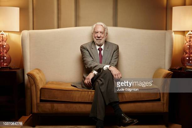 Actor Donald Sutherland is photographed for the Wall Street Journal on November 6 2018 in London England