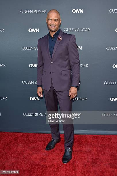 "Actor Dondre Whitfield attends OWN Oprah Winfrey Network's ""Queen Sugar"" premiere at the Warner Bros Studio Lot Steven J Ross Theater on August 29..."