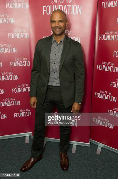 Actor Dondre Whitfield attends SAGAFTRA Foundation Conversations screening of 'Queen Sugar' at SAGAFTRA Foundation Screening Room on November 14 2017...