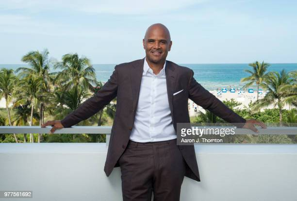 Actor Dondre Whitfield poses for a portrait during the 22nd Annual American Black Film Festival at the Loews Miami Beach Hotel on June 16 2018 in...