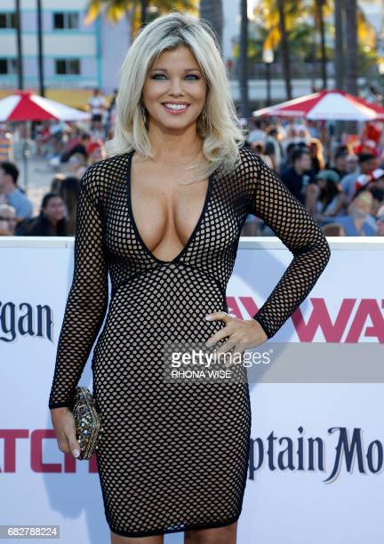 Actor Donna D'Errico attends Paramount Pictures' World Premiere of 'Baywatch' in Miami Beach Florida on May 13 2017 / AFP PHOTO / RHONA WISE