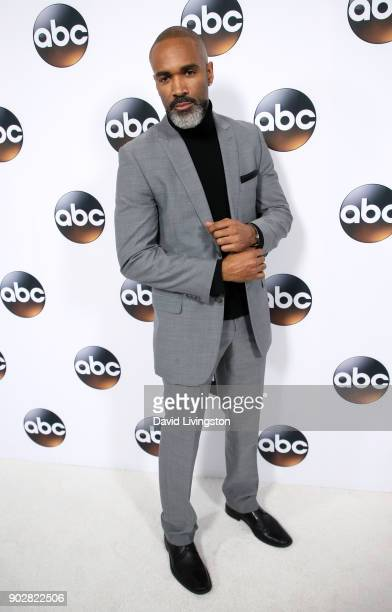 Actor Donnell Turner attends Disney ABC Television Group's TCA Winter Press Tour 2018 at The Langham Huntington Pasadena on January 8 2018 in...