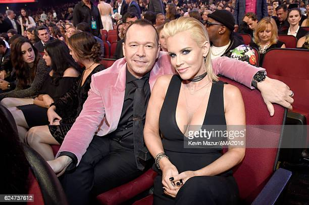 Actor Donnie Wahlberg and actress Jenny McCarthy attend the 2016 American Music Awards at Microsoft Theater on November 20 2016 in Los Angeles...