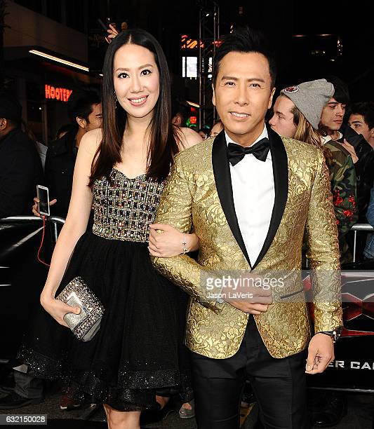 Actor Donnie Yen and wife Cissy Wang attend the premiere of 'xXx Return of Xander Cage' at TCL Chinese Theatre IMAX on January 19 2017 in Hollywood...