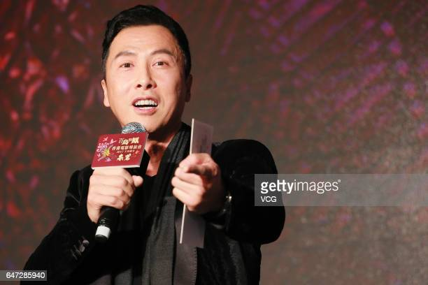 Actor Donnie Yen attends Hong Kong Film Directors' Guild Award Ceremony on March 2 2017 in Hong Kong China