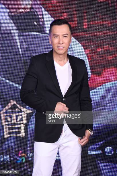 "Actor Donnie Yen attends the premiere of his new film ""Chasing the Dragon"" on September 26, 2017 in Taipei, Taiwan of China."