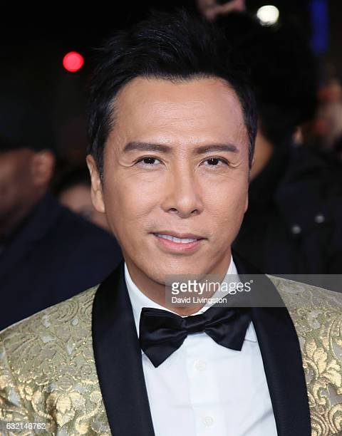 Actor Donnie Yen attends the premiere of Paramount Pictures' xXx Return of Xander Cage at TCL Chinese Theatre IMAX on January 19 2017 in Hollywood...