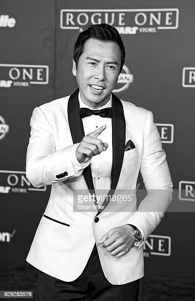 Actor Donnie Yen attends the premiere of Walt Disney Pictures and Lucasfilm's Rogue One A Star Wars Story at the Pantages Theatre on December 10 2016...