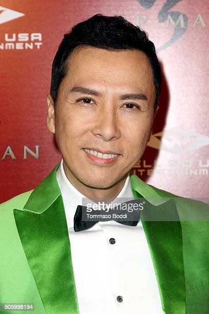 Actor Donnie Yen attends the premiere of Well Go USA Entertainment's 'Ip Man 3' held at Pacific Theatres at The Grove on January 20 2016 in Los...